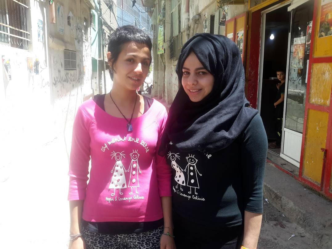 Nuestras voluntarias en Palestina