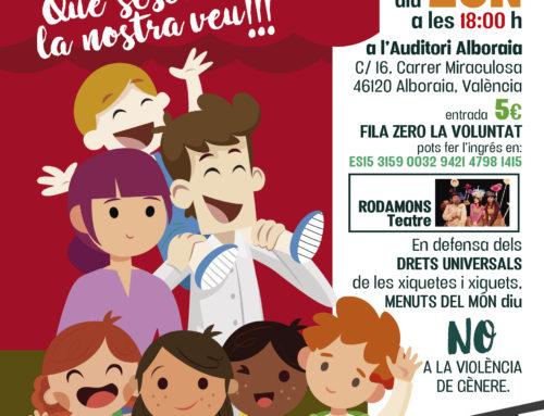 ENS ANEM DE FESTA AMB RODAMONSTEATRE  #25N #NOALAVIOLÈNCIADEGÈNERE